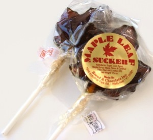 Hard Maple Candy Leaf Pop