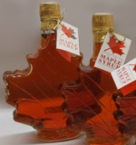 Pure & Natural Vermont Maple Syrup Glass Leaf