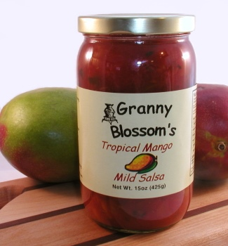 Tropical Mango, MILD Salsa, 15 oz. jar