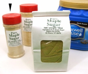 Pure Maple Sugar, 6 oz. container